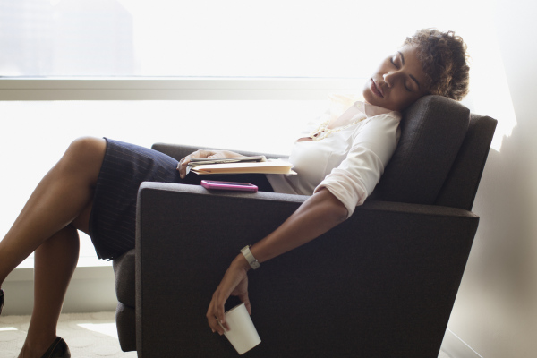 black-woman-sleep-in-chair